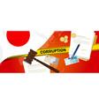 japan corruption money bribery financial law vector image vector image