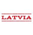 Latvia Watermark Stamp vector image vector image