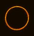 magic hot gold circle glowing fire ring tr vector image vector image