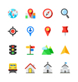 Map and Location Icons vector image