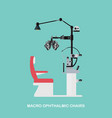 marco ophthalmic chairs vector image