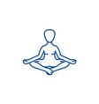 meditation yoga posturelotus line icon concept vector image vector image