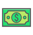 money dollar filled outline icon business vector image vector image