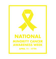 national minority cancer awareness ribbon vector image vector image