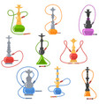 olorful set of hookah labels of different shapes vector image