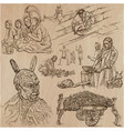 people - an hand drawn collection freehand vector image vector image