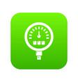 pressure meter icon green vector image vector image