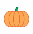 pumpkin colorful vector image