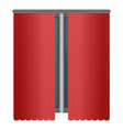 red window curtains icon cartoon style vector image