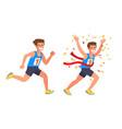 running athlete sprinter man vector image