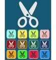Scissors Icon with Color Variations vector image