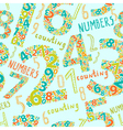 Seamless numbers vector image vector image