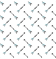 Seamless pattern with stylized linear arrows vector image