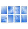 set covers halftone geometric design vector image