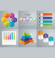 set infographics design vector image