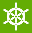 ship wheel icon green vector image vector image