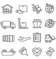shipping cargo delivery distribution freight vector image vector image