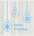 stylish merry christmas card vector image vector image