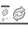 Synch data line icon vector image vector image