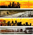 urban web banner templates vector image vector image