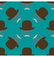 Vintage hipster hat and mustache symbol seamless vector image vector image