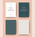 wedding invitation save date cards vintage vector image vector image