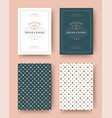 wedding invitation save the date cards vintage vector image vector image