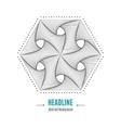 Hexagonal 3d abstract geometric shape vector image