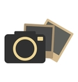Hipster retro photo camera icon vector image