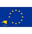 EU flag with Estonia country European Union vector image