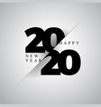 2020 happy new year with typography vector image vector image