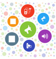 7 mp3 icons vector image vector image