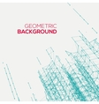 Abstract connect geometric background vector image vector image