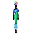 african woman dress afro womens ankara clothing vector image