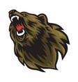 angry bear logo mascot design vector image vector image