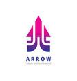 arrow icon logo template design element vector image vector image