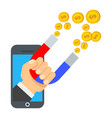 attraction of money vector image vector image