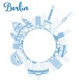 Berlin skyline with blue building vector image