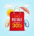 Big sale summer concept banner card or poster