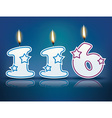 Birthday candle number 116 vector image vector image