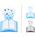 book of learning vector image vector image