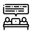 business people conversation icon outline vector image