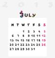 calendar 2015 july vector image vector image