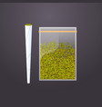 cannabis joint and green dry crushed marijuana vector image