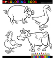 Cartoon Farm Animals for Coloring Book vector image vector image