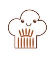 chef hat kawaii character vector image