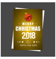 christmas greetings card with golden background vector image