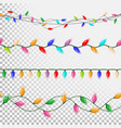 christmas lights string flat garlands vector image