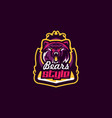 colorful emblem an aggressive bear sports logo vector image vector image