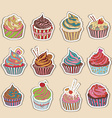 Cupcake colorful icon vector image vector image